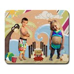 Summer beach mouse pad - Large Mousepad