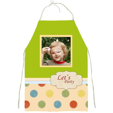 Party By Jacob   Full Print Apron   Pwr6qdlkqdo2   Www Artscow Com Front
