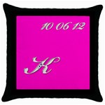 Katie1 - Throw Pillow Case (Black)