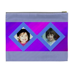 Purple And Pink Cosmetic Bag Large By Kim Blair   Cosmetic Bag (xl)   5vlz3sga33wc   Www Artscow Com Back