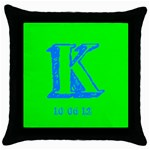Katie8 - Throw Pillow Case (Black)