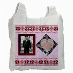 Tribute To Dad By Maryanne   Recycle Bag (two Side)   Tsu7uva30ovt   Www Artscow Com Front