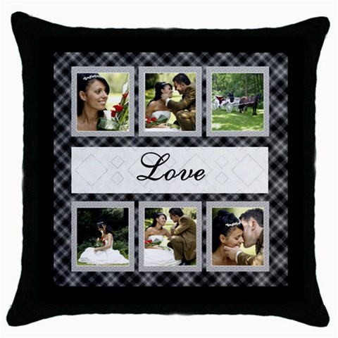 Love Throw Pillow By Deborah   Throw Pillow Case (black)   M94qae0zlmga   Www Artscow Com Front