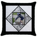 Black and White Selection Throw Pillow Case - Throw Pillow Case (Black)