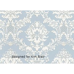 Blue Victorian Thank You Card By Kim Blair   Thank You 3d Greeting Card (7x5)   R3x0cwxd69j2   Www Artscow Com Back