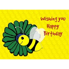 Happy Birthday Baybee By Patricia W   Circle Bottom 3d Greeting Card (7x5)   824bdybsnarp   Www Artscow Com Front
