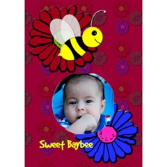 Happy Birthday Baybee By Patricia W   Circle Bottom 3d Greeting Card (7x5)   824bdybsnarp   Www Artscow Com Inside