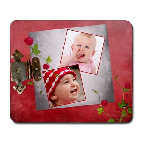 Shabby Rose 9.25 x7.75 Mousepad - 1
