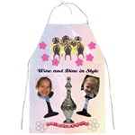wine and dine pinny - Full Print Apron