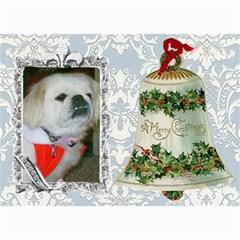 Victorian Christmas Bell Post Card By Kim Blair   5  X 7  Photo Cards   25f1cmbdxeja   Www Artscow Com 7 x5  Photo Card - 4