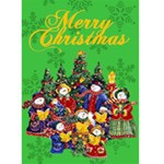 Snow people Carolers Christmas card - Greeting Card 5  x 7