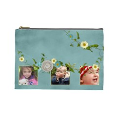 Timeless   Cosmetic Bag (lg)  By Picklestar Scraps   Cosmetic Bag (large)   81kdh2hks92r   Www Artscow Com Front
