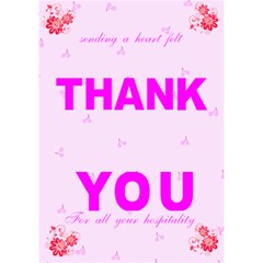 Heart Felt Thank You Card (7 X 5) By Kim Blair   Thank You 3d Greeting Card (7x5)   Ootnvcan059l   Www Artscow Com Inside