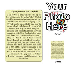 New Zealand Naturally Collectible Cards 1 By Angela   Multi Purpose Cards (rectangle)   Gl2zeyhqcup4   Www Artscow Com Back 28
