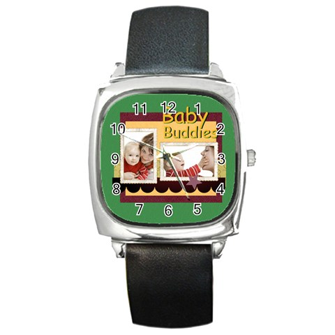 Baby By Joely   Square Metal Watch   Y6ywzs3z9qxe   Www Artscow Com Front