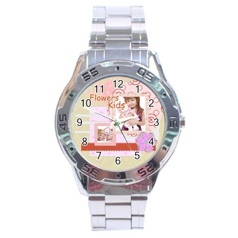 Flower By Jo Jo   Stainless Steel Analogue Watch   Xp6xqkw6ewgx   Www Artscow Com Front