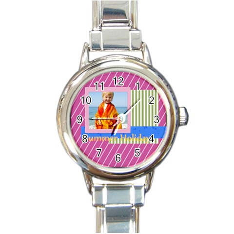 Summer By Man   Round Italian Charm Watch   16ymhpmsh6tf   Www Artscow Com Front
