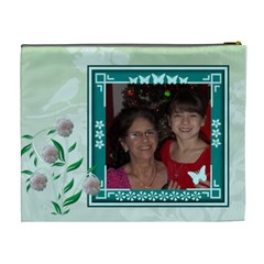 Green Butterfly Frame Cosmetic Bag (xl) By Kim Blair   Cosmetic Bag (xl)   Qup7be5pypif   Www Artscow Com Back