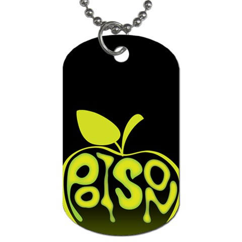 Poison Apple Dog Tag By Joyce   Dog Tag (one Side)   Ey63gtevwajb   Www Artscow Com Front