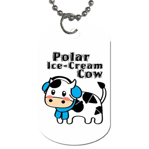 Polar Ice Cream Cow Dog Tag By Joyce   Dog Tag (one Side)   Pdfkkhtnk6pp   Www Artscow Com Front