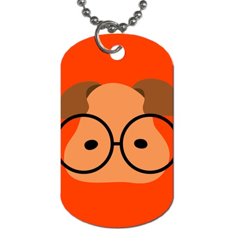 Glasses Dog Tag By Joyce   Dog Tag (one Side)   5bgz840um2hg   Www Artscow Com Front