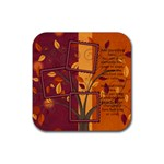 Autumn Blessings Tree Coaster - Rubber Coaster (Square)