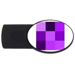 Purple Shades 4gb Usb Flash Drive (oval)