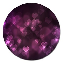 Purple Bokeh Extra Large Sticker Magnet (round) by PurpleVIP