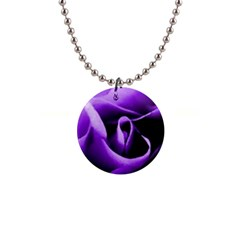 Purple Rose Mini Button Necklace