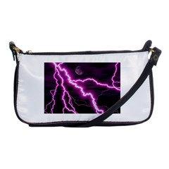 Purple Lightning Evening Bag