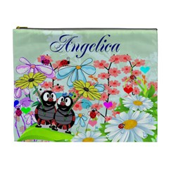 Lladybugs In Flower Garden Cosmetic Bag (xl) By Kim Blair   Cosmetic Bag (xl)   U9fi9zzsorow   Www Artscow Com Front