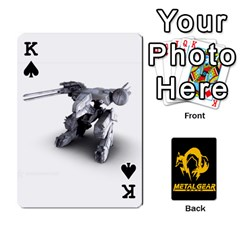 King Poker Metal Gear Solid By Rubén   Playing Cards 54 Designs   2c1d1yzrab6z   Www Artscow Com Front - SpadeK