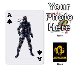 Ace Poker Metal Gear Solid By Rubén   Playing Cards 54 Designs   2c1d1yzrab6z   Www Artscow Com Front - SpadeA