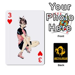 Poker Metal Gear Solid By Rubén   Playing Cards 54 Designs   2c1d1yzrab6z   Www Artscow Com Front - Heart3