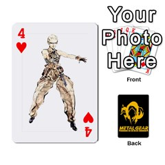 Poker Metal Gear Solid By Rubén   Playing Cards 54 Designs   2c1d1yzrab6z   Www Artscow Com Front - Heart4