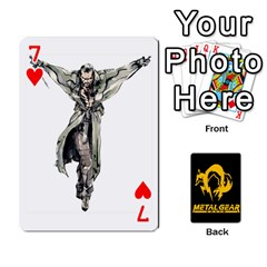 Poker Metal Gear Solid By Rubén   Playing Cards 54 Designs   2c1d1yzrab6z   Www Artscow Com Front - Heart7