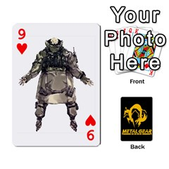 Poker Metal Gear Solid By Rubén   Playing Cards 54 Designs   2c1d1yzrab6z   Www Artscow Com Front - Heart9