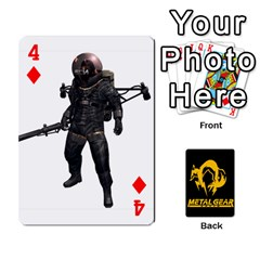 Poker Metal Gear Solid By Rubén   Playing Cards 54 Designs   2c1d1yzrab6z   Www Artscow Com Front - Diamond4