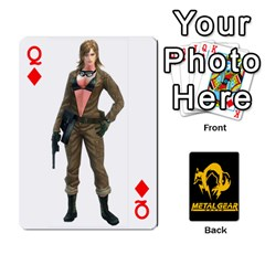 Queen Poker Metal Gear Solid By Rubén   Playing Cards 54 Designs   2c1d1yzrab6z   Www Artscow Com Front - DiamondQ