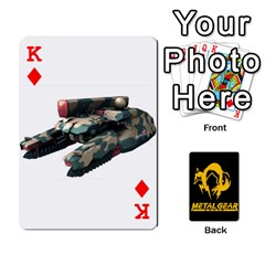 King Poker Metal Gear Solid By Rubén   Playing Cards 54 Designs   2c1d1yzrab6z   Www Artscow Com Front - DiamondK