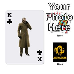 King Poker Metal Gear Solid By Rubén   Playing Cards 54 Designs   2c1d1yzrab6z   Www Artscow Com Front - ClubK