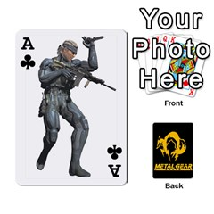 Ace Poker Metal Gear Solid By Rubén   Playing Cards 54 Designs   2c1d1yzrab6z   Www Artscow Com Front - ClubA