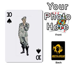 Poker Metal Gear Solid By Rubén   Playing Cards 54 Designs   2c1d1yzrab6z   Www Artscow Com Front - Spade10