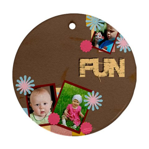 Fun By Jacob   Ornament (round)   Ylo7souklq1s   Www Artscow Com Front
