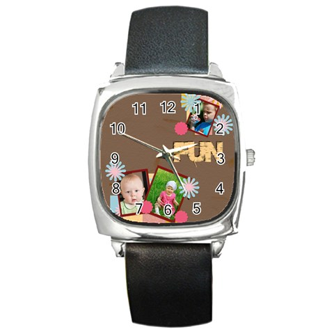 Fun By Jacob   Square Metal Watch   Knv3pem9o9r3   Www Artscow Com Front