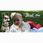 thank you card - 4  x 8  Photo Cards