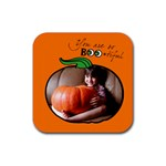 Pumpkin - Rubber Coaster (Square)
