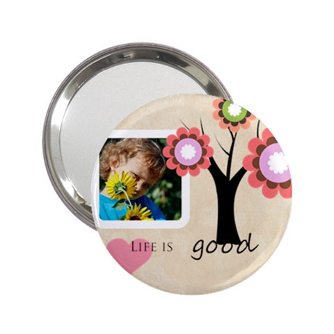Life Is Good By Jacob   2 25  Handbag Mirror   Drriy59fto22   Www Artscow Com Front
