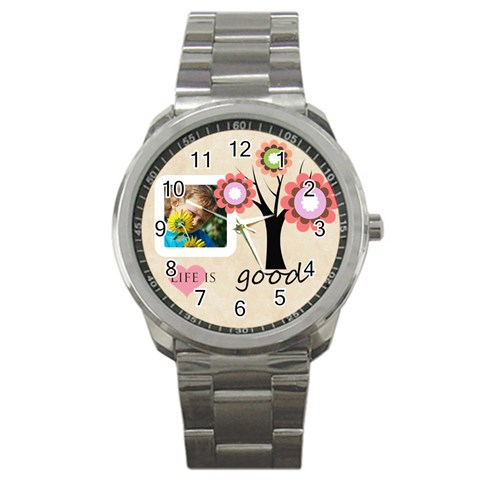Life Is Good By Jacob   Sport Metal Watch   Da63knf8qjv1   Www Artscow Com Front
