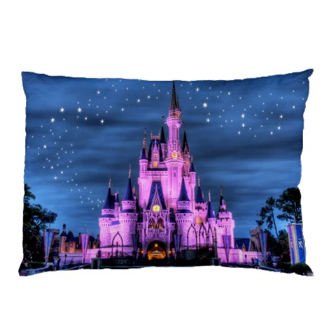 Pink Castle Pillow Case By Gail Mousseau   Pillow Case   Kdxcas2qliyg   Www Artscow Com 26.62 x18.9 Pillow Case